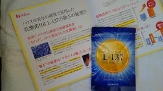 ハウス ラクトプランL-137乳酸菌サプリメント、買いました。